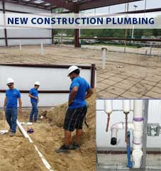 Plumbing for new construction Ocala-Gainesville